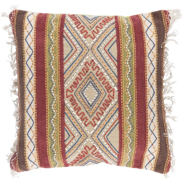 Fressia Square 100% Cotton Throw Pillow Cover by Mistana